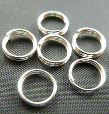Free Ship 1000pcs silver plated split ring 7mm