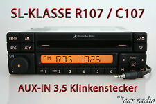 Mercedes original autorradio r107 SL-clase Special mf2297 c107 CD-R AUX-en mp3