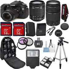 Canon EOS 70D Camera Bundle Kit with 18-55mm IS STM + 75-300mm III Zoom + 32GB