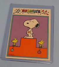 1991 PEANUTS TRADING CARD BY SCHULZ #14 SNOOPY & WOODSTOCK AT THE OLYMPICS