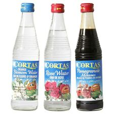 Cortas Trio of Pomegranate Molasses, Orange Blossom Water & Rose Water, 300ml