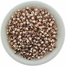 Swarovski Crystal 5328 XILION Bicones 3mm - ROSE GOLD 2X (24 PCS)