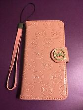 *USA Seller* New MK iPhone 7 Glossy Light Pink Wallet Phone Case Michael Kors