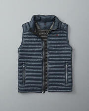 NWT Abercrombie & Fitch Packable Ultra Lightweight Down Puffer Vest Indigo S