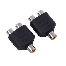 2 Pack Lot RCA Splitter 1 Female to 2 Female AV Audio Video Y Adapter Converter