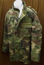 Slovakian Military Surplus Item - Used Woodland Camo Hooded Parka - Men Size XL