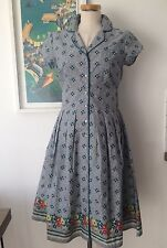 Seasalt Lottie Dress  - Confetti Flowers Cobble - UK10 - Sales Sample SAVE!!