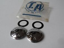 *NOS Vintage 1970s TA Specialites 23mm brass crankset dust caps (one pair)*
