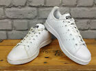 ADIDAS STAN SMITH WHITE LEATHER TRAINERS RRP £67 PERFORATED STRIPES