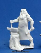 1x VILLAGEOIS FORGERON- BONES REAPER figurine miniature jdr rpg blacksmith 77142