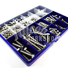 369 ASSORTED PIECE A2 STAINLESS M4 M5 M6 M8 M10 HEX SET SCREW BOX, FULL NUTS KIT