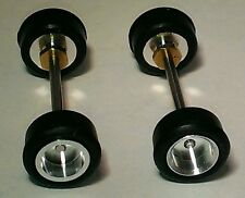 HO AFX  2 Front  Aluminum Rim Sets* *Threaded Rims w Slicks MINT NEW LOT