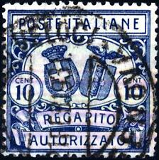 ITALIA - Regno - 1928 - Recapito Autorizzato - Stemmi in ovale e in cerchio 10 c