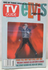 TV Guide August 17 - 23  2002 Elvis Presley Forever Hologram Collectible
