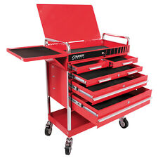 Sunex 8045 Professional 5 Drawer Service Cart with Locking Top - Red