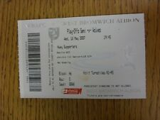 16/05/2007 Ticket: Play-Off Semi-Final Division 1, West Bromwich Albion v Wolver