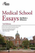 Medical School Essays that Made a Difference, 3rd Edition (Graduate School Admis