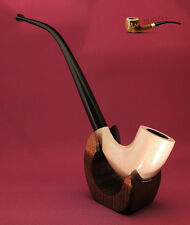 "TOBACCO SMOKING PIPE White CHURCHWARDEN 10"" Hobbit Lord of The Ring Gandalf"