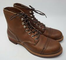 Red Wing Iron Ranger Leather Boots Model #8111 Amber Harness Brown Size 7.5 D