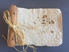 Handmade Pressed Paper with Flowers Journal Natural Wood Nature Rustic Scrapbook