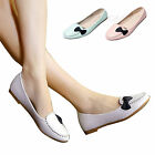 Women Round Toe Bow Knot Flats Shoes Ballet Walking Slip On Casual Oxford