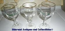 3 Irish Coffee Stemmed Glasses Gold Trim 2 Different Designs GUC