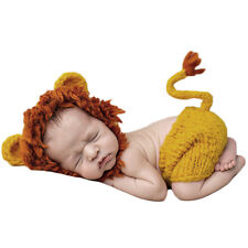 Newbron Kids Cute Animal Lion Crochet Hat Pant Costume Photo Photography Prop