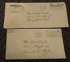 1944 WWII Free Army covers and letters Kansas City Kansas Medical - Food Depot