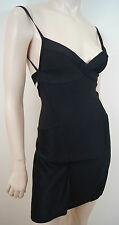 HERVE LEGER PARIS Black Bandage Strappy Backless Flared Skirt Mini Dress Sz:S