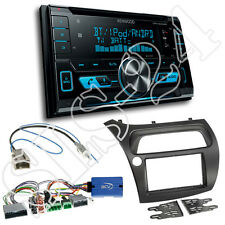 Honda Civic VIII ab2006 2-DIN Blende+Lenkrad Adapter+ Kenwood DPX5000BT Radio