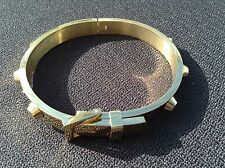 18 Carat Yellow Gold Plated Buckle Bangle
