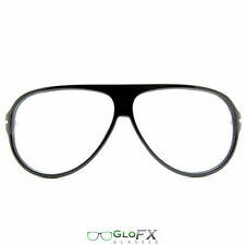 GloFX Black Diffraction Glasses -  great for Rave Club Flashing Goggles