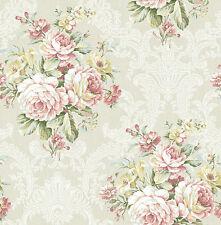 Tapete, Luxustapete, Blumen, Antik, Rohseide, Perlmutt, Beige, Schimmer, edel