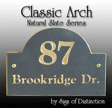 100% Natural Slate Classic Arch Address Sign OR Personalized Plaque