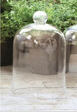 French Country~Garden~GLASS CLOCHE / BELL JAR~ Medium 11'' X 7.5''