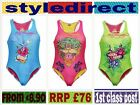 GIRLS BRANDED ED HARDY DESIGNER SWIMWEAR COSTUME SWIMSUIT SIZE 2 - 14 YEARS