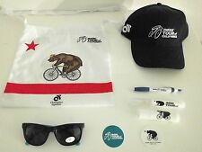 Amgen Tour of California ToC musette bag, hat, stickers, extras 2016 2017