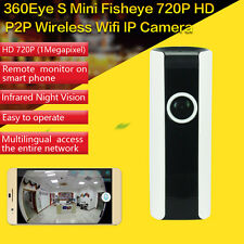 Wireless WIFI IP Camera 720P Fisheye 180 Degree Full View Network Home Security