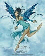 Amy Brown Sticker Decal Fairy Faery WATER ELEMENT SPRITE aqua blue elemental