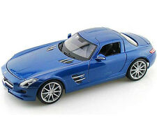 Maisto Mercedes Benz SLS AMG Gullwing 1:18 Diecast Model Car Blue