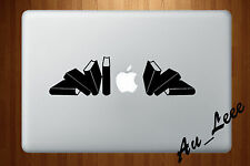 Macbook Air Pro Vinyl Skin Sticker Decal Books Bookshelf Reading Study #MAC575