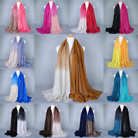 Ladies Women Fashion Shade Pashmina Scarf Stole Shawl Wrap Soft Voile Scarves