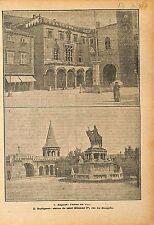 Hôtel de Ville City Hall Raguse Dubrovnik Cratia Croatie  1919 ILLUSTRATION