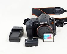 Sony Alpha DSLR A350 14.2 MP Digital SLR Camera Body With Accessories Shown