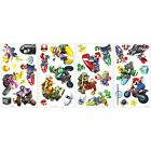 MARIO KART WII 34 BiG Wall Stickers Racing Cars Room Decor Game Decals NINTENDO