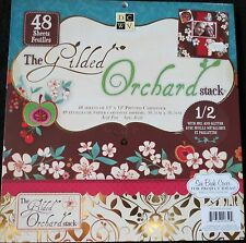 """Gilded Orchard 12""""x12"""" Quality Cardstock Paper Pack w/Foil and Glitter by DCWV"""