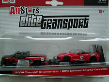 2004 Chevrolet Silverado SS / 2014 Corvette Stingray Maisto Elite Transport 1:64