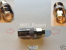 Gold Plated RP-SMA Male To RP-TNC Female Adapter F Antenna Router USA