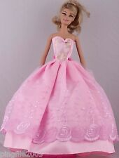 New Handmade Pink Dress Clothes Outfits For Barbie Doll #1006