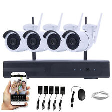 4CH 720P WIFI NVR Outdoor CCTV Wireless Security Night Vision IP Camera System